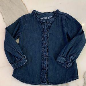Denim shirt by BabyGap size 3T